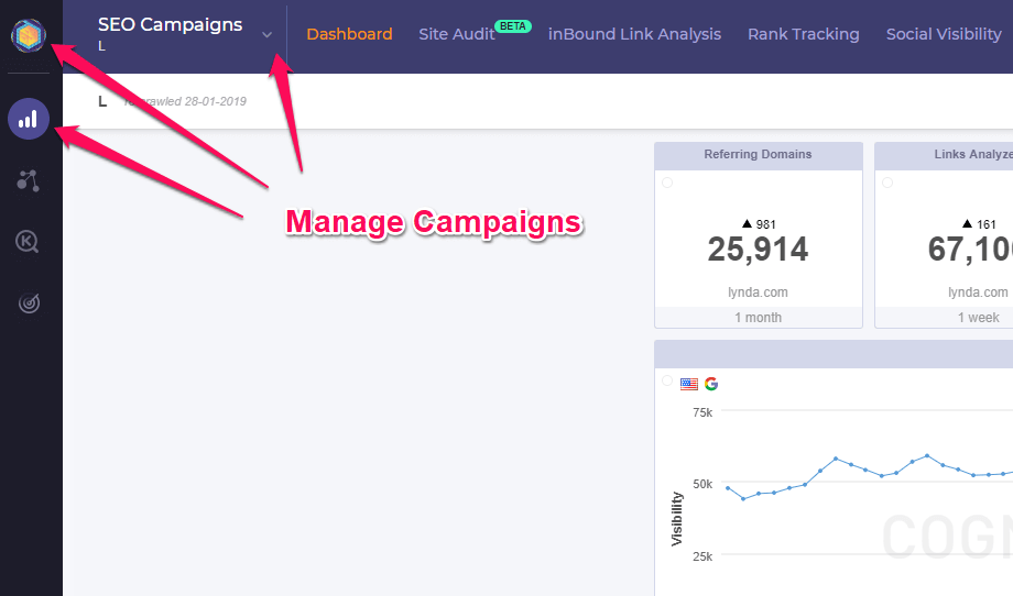 Manage Campaigns or edit