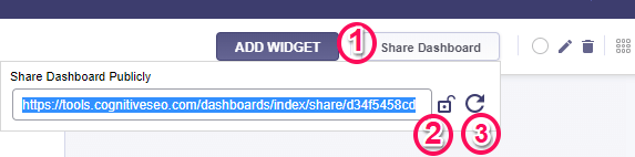 Share Campaign Dashboard