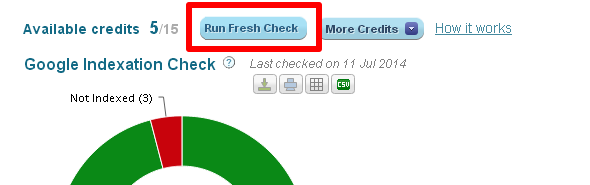 Fresh Check Button