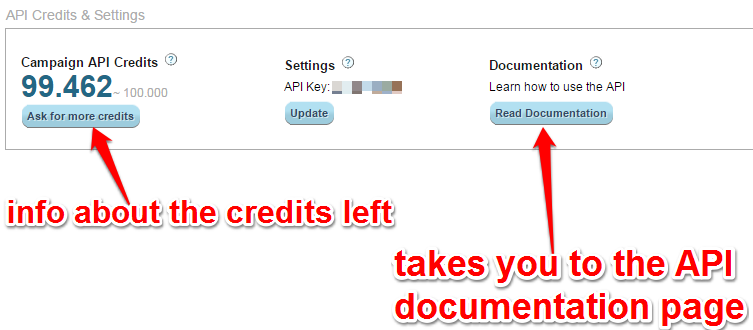 API Credits and Documentation