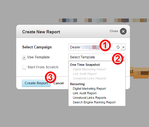 cogntiveSEO Create Report Template