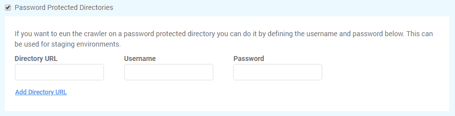 Password protected directories